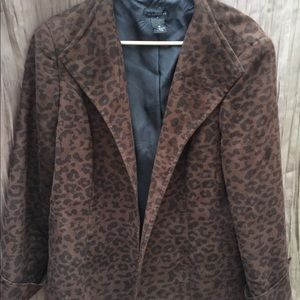 Investments leopard Blazer light weight faux suede